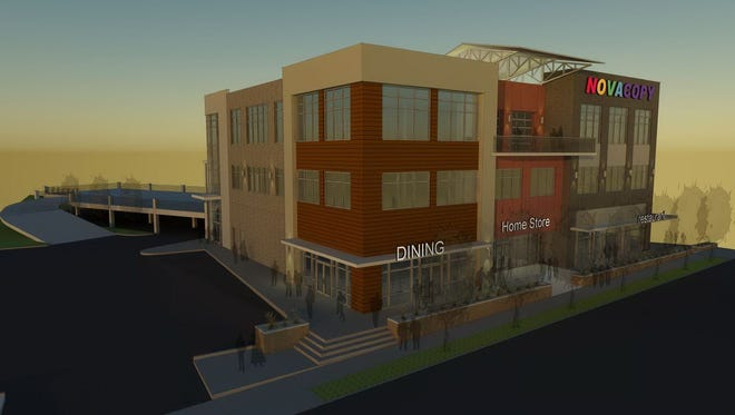 A rendering of the Sylvan Station building where NovaCopy will be the anchor tenant.