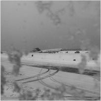 Delta Flight  1086 is seen after skidding off a LaGuardia runway on March 5, 2015.