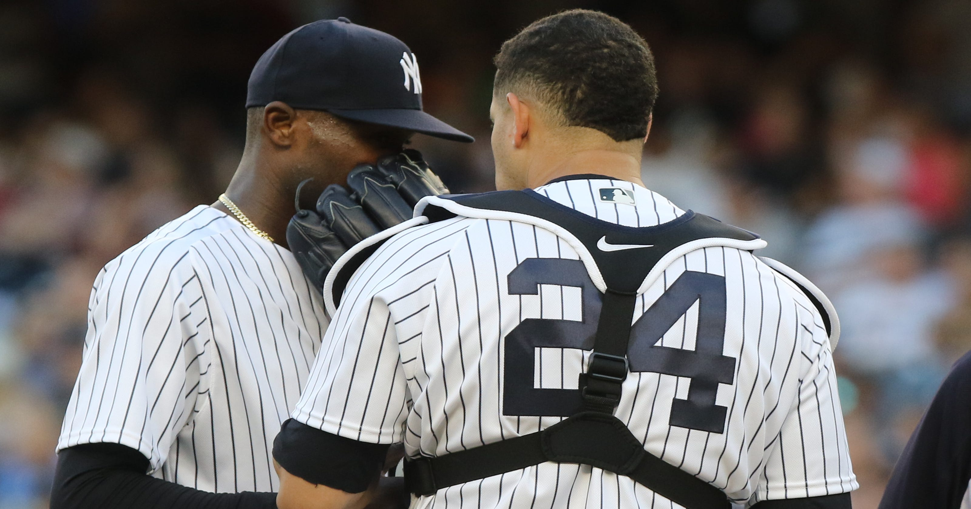 100% authentic d55fc 3e401 Domingo German exposes NY Yankees' rotation needs in 7-5 ...