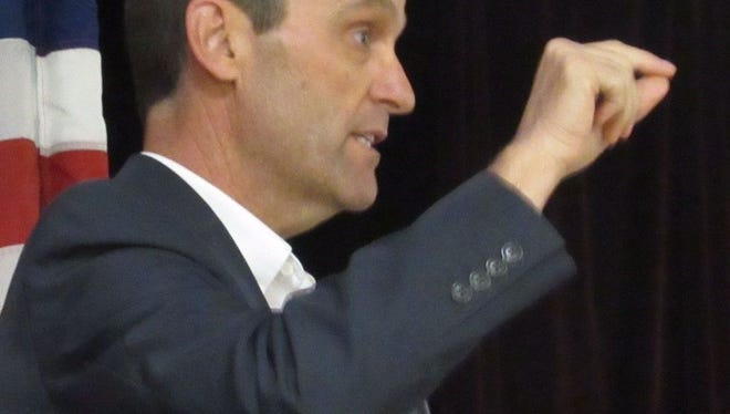 Rep. Steve Knight held a town hall meeting Saturday.