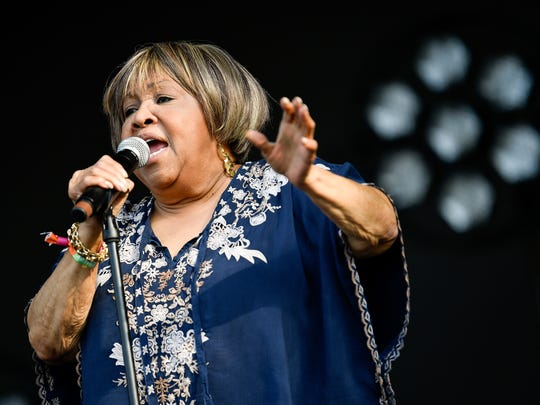 "Mavis Staples, pictured at Bonnaroo in June, recorded a song with Dolly Parton for the ""Dumplin'"" soundtrack. ""I've loved Mavis Staples all my life,"" Parton said. ""Mavis and Otis Redding were my favorite soul singers ever."""