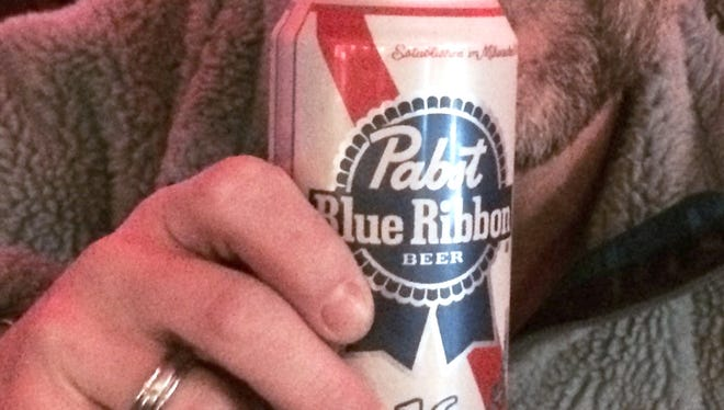A can of Pabst Blue Ribbon.