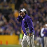 LSU coach Les Miles and his Tigers play at Starkville on Sept. 12.