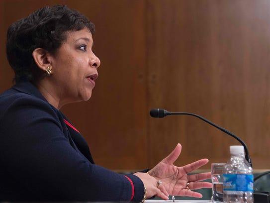 Attorney General Loretta Lynch testifies before the