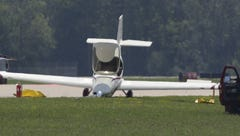 Plane on belly briefly closes Runway 36 at Wittman Regional Airport in Oshkosh