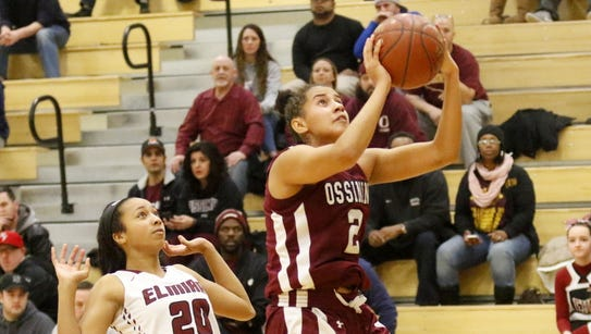 Andra Espinoza-Hunter goes up for two of her 40 points