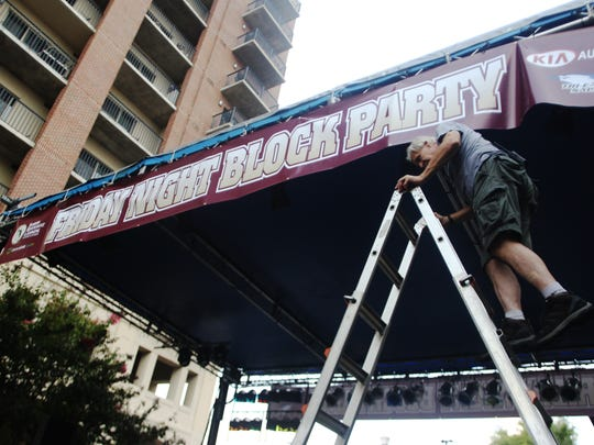 Thousands of people filled Tallahassee's Kleiman Plaza and Adams Street block Friday for last year's first Downtown Getdown. Local and national country and rock bands performed at the event, which is a precursor to Florida State University and FAMU home football games.