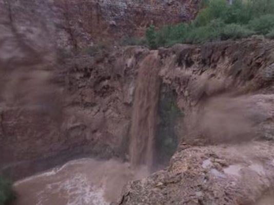 Havaupai Falls flooding