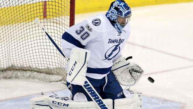Ben Bishop has a 2.55 goals-against average and .911 save percentage this season.