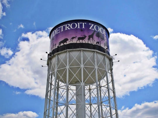 The water tower at the Detroit Zoo.