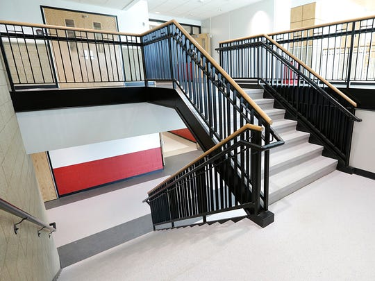 The new construction at Lomira High School has added three staircases allowing faster and easier access between floors.