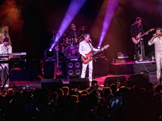 New York Bee Gees perform at Cross County Shopping