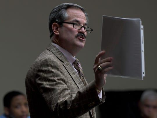 T. Scott Jones, defense attorney for Christopher Bassett,