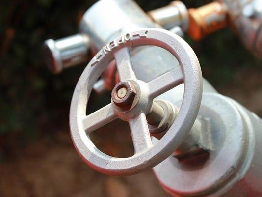 Open water valve steel