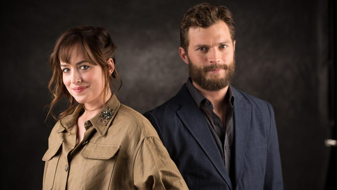 Dakota Johnson and Jamie Dornan, the stars of 'Fifty Shades of Grey.'