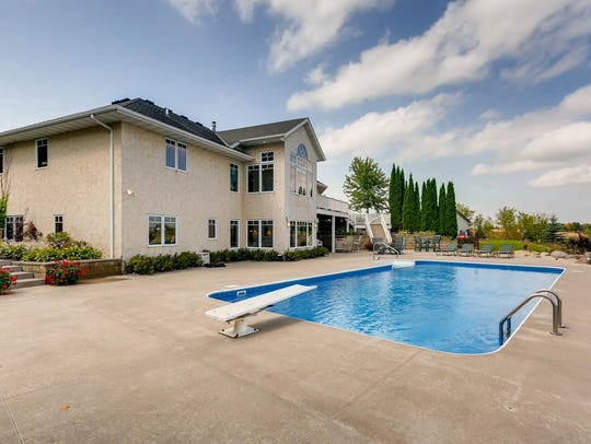 A swimming pool can be enjoyed the home at 5-15th St.