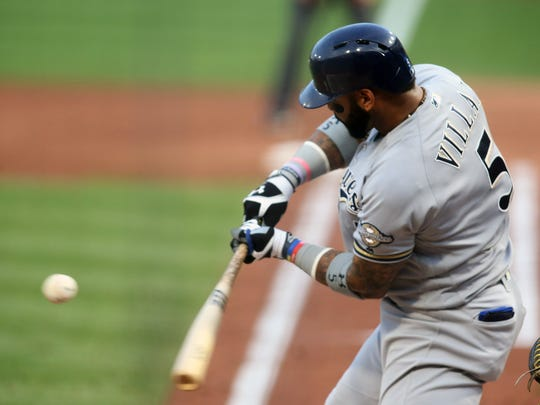 Second baseman Jonathan Villar stole 62 bases in 2016 to lead the National League.
