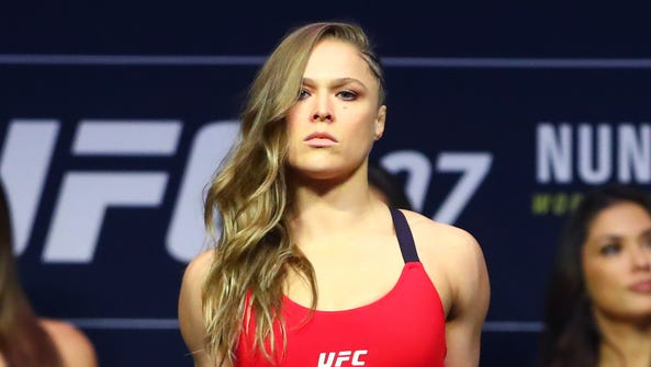 Dec 29, 2016; Las Vegas, NV, USA; Ronda Rousey during