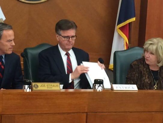 Lt. Gov. Dan Patrick's apparent intent to target city