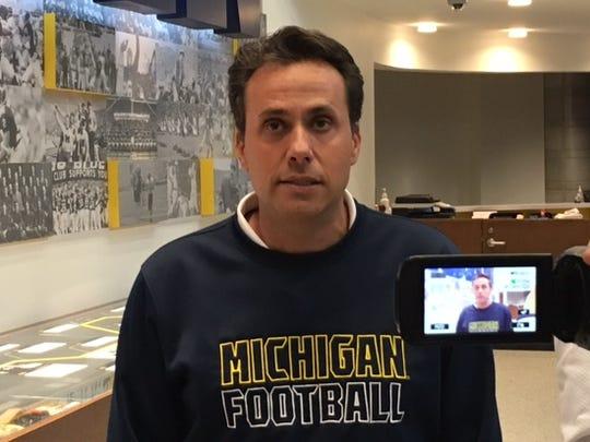Michigan passing game coordinator Jedd Fisch.