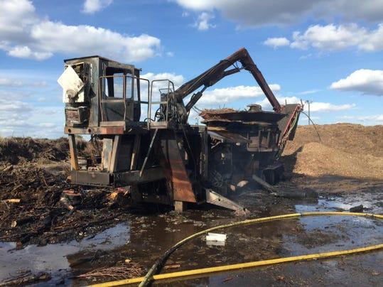 Mulching Machine Fire 9.20.15