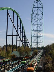 Kingda Ka at Six Flags Great Adventure in Jackson Township.
