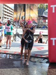 Cathy Tibbetts competes in the 2014 Hawaii Ironman
