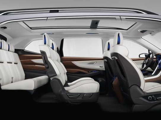 An image of the Subaru Ascent concept vehicle's interior.