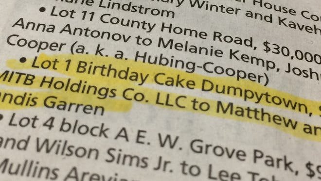 """While the name """"Birthday Cake Dumptytown"""" is entertaining, it's not really the official name of the north Asheville subdivision."""