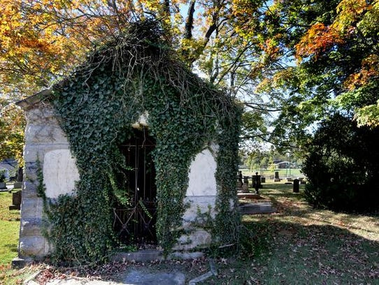 The Haynes family mausoleum at the Evergreen Cemetery