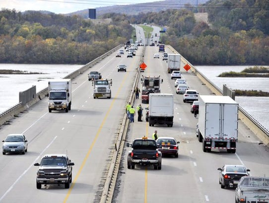 One lane of traffic was opened to westbound traffic