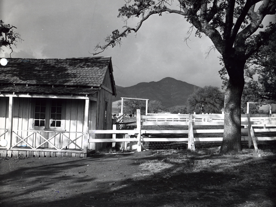 The ridgeline shown between the barn and the tree can help movie buffs identify Mystery Ranch. Such sleuthing will be discussed at Wednesday night's Oak Park History Night.