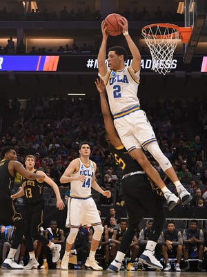 UCLA Bruins guard Lonzo Ball (2) reaches for the ball against the Kent State Golden Flashes.
