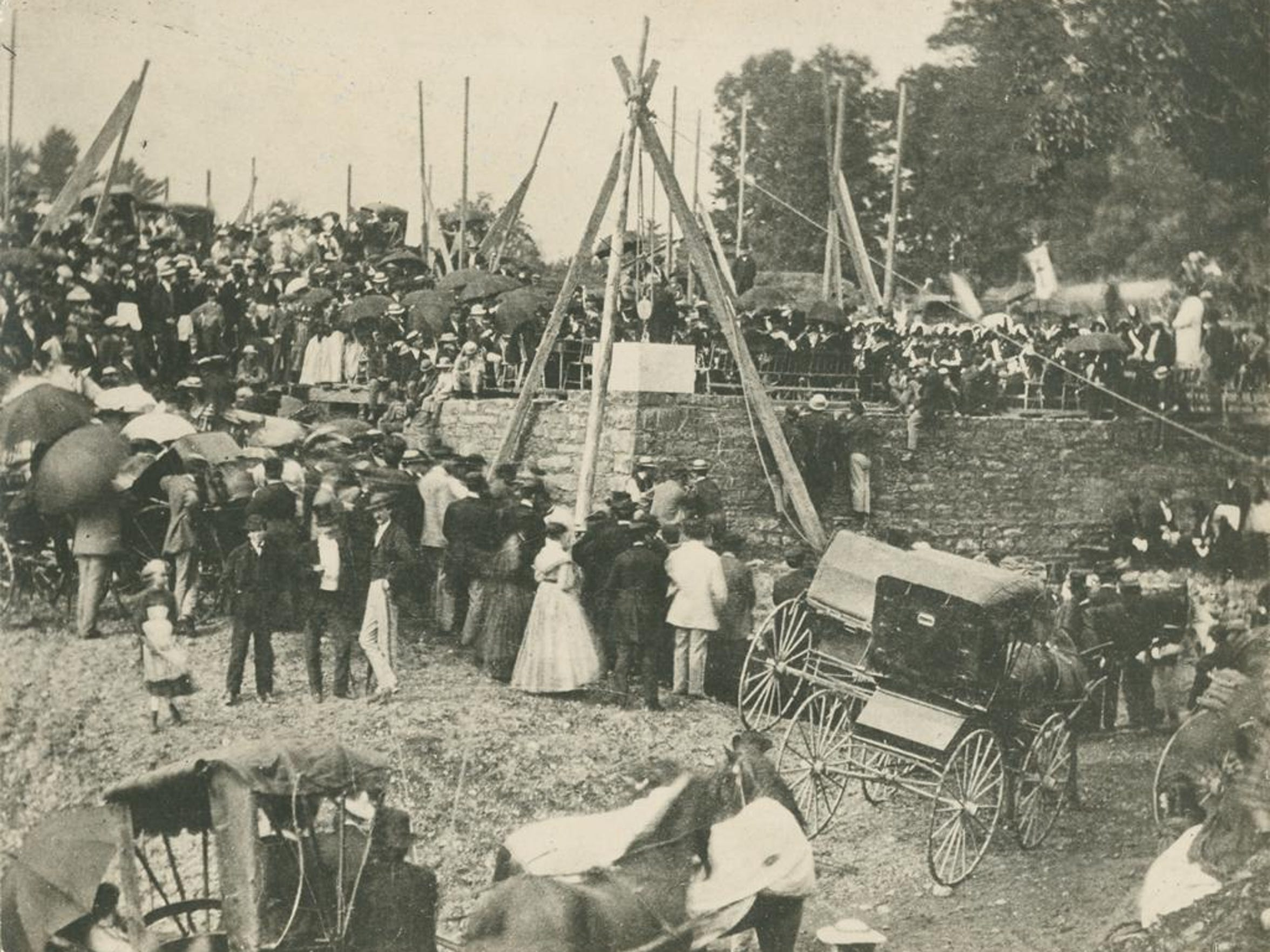 The cornerstone of McGraw Hall was laid in 1869 with