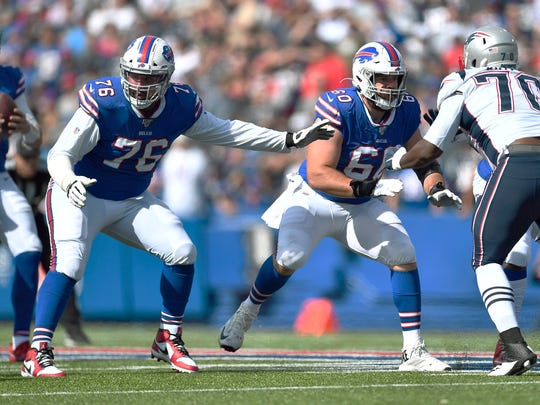 The Bills' offensive line returns intact from 2019.