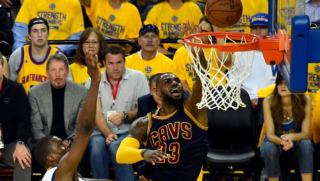 LeBron James (23) and the Cavs face a 1-0 deficit in the NBA Finals.