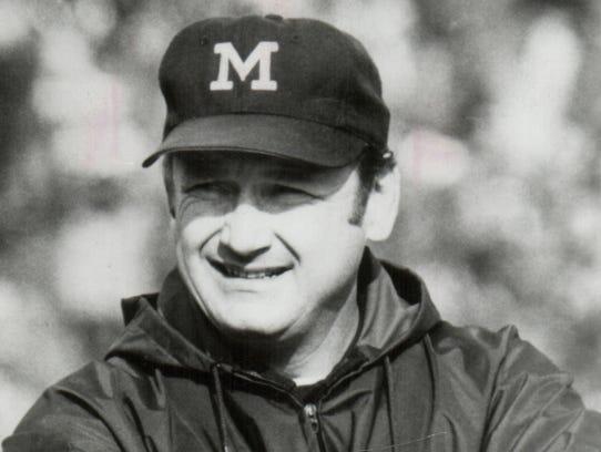 Michigan coach Bo Schembechler