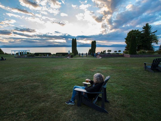 Beer with a view at Shelburne Farms in Shelburne on
