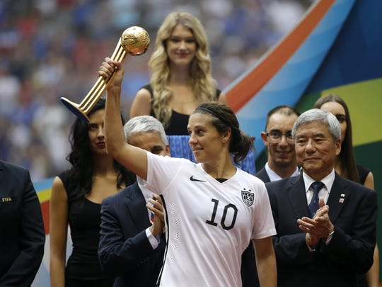 Delran's Carli Lloyd became the ninth American to make four World Cup rosters for the United States national team.