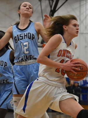 Oneida's Sydney Lusher recently committed to play basketball at Le Moyne College. She was the TVL Pioneer Player of the Year and an all-state first team selection.