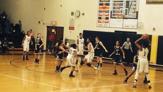 East Lansing at Waverly girls basketball. Waverly won