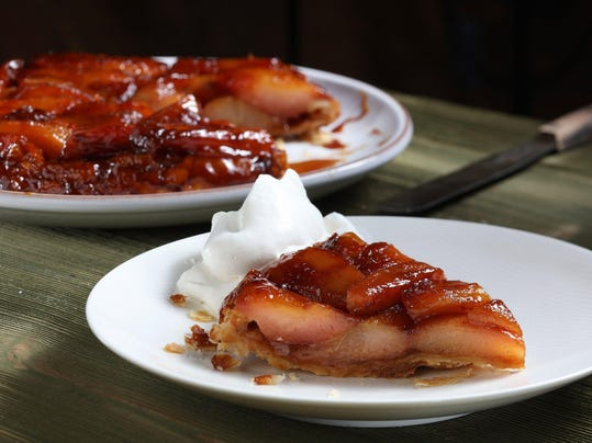 Luscious fall pears sub for apples in twist on classic tatin