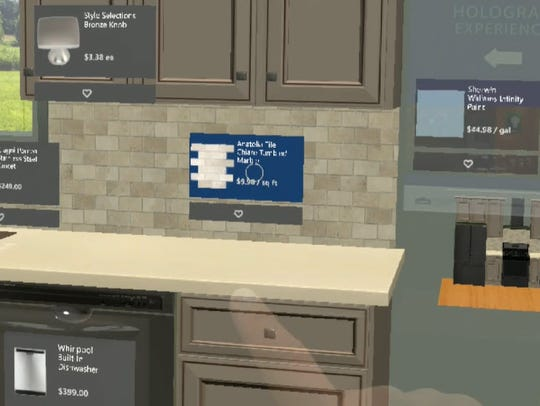 Designing a kitchen using HoloLens allows Lowe's customers