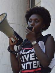 Harmony Edosomwan, Black Student Union president, talks