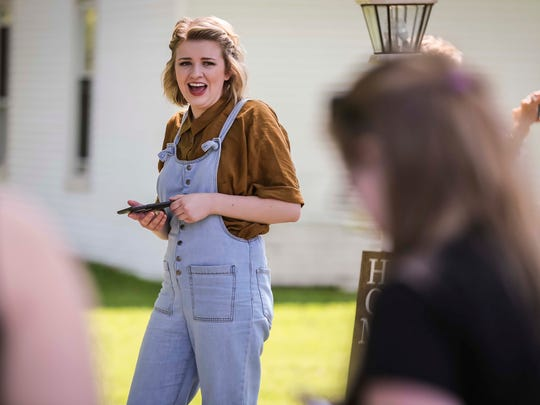 American Idol finalist Maddie Poppe tours her home town and talks with her family in Clarksville, Iowa, Tuesday, May 15, 2018, before a parade and then concert in Allison.