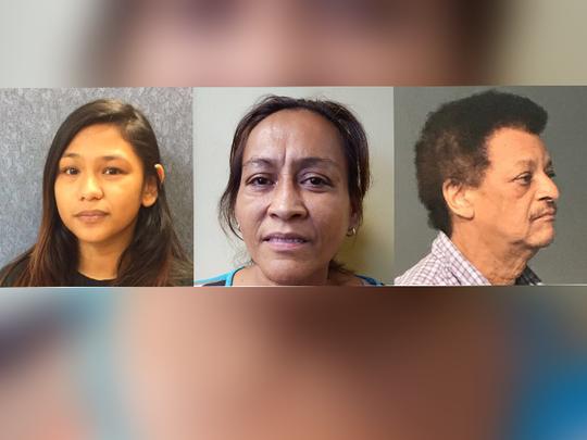 A combined photo of Quiana Liberty Iglesias Manibusan,Corina Lynn Tedtaotao and Paul Lynwood Johnson