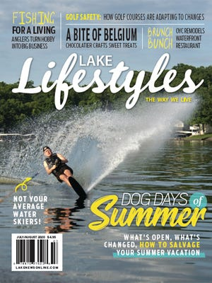 The July/August issue cover of Lake Lifestyles magazine.
