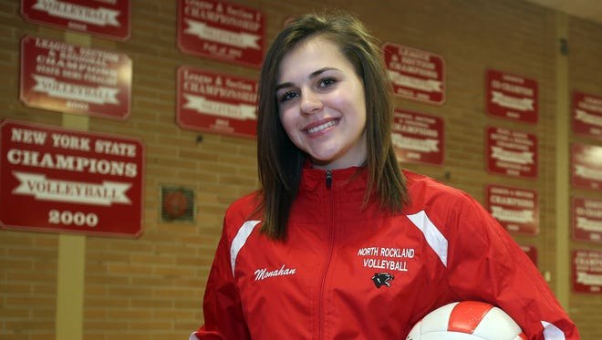 North Rockland junior Madison Monahan, who is photographed at Rockland High School in Thiells on Nov. 23, 2016, is The Journal News/lohud Rockland volleyball player of the year.