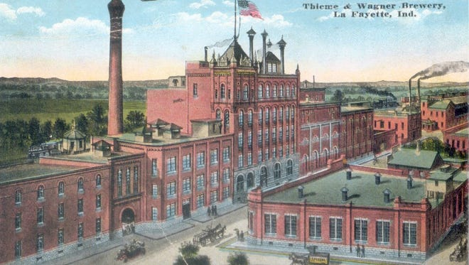 Thieme & Wagner produced beer in Lafayette from the 1860s until Prohibition. An image of the brewery appeared on a postcard.