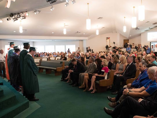 Arcadia First Baptist Church in Santa Fe, Texas honors